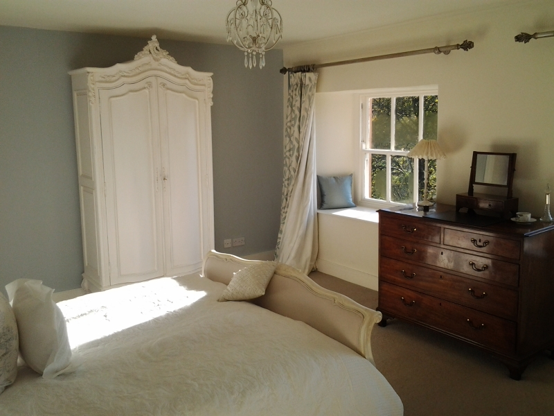 A calm and soothing room ideal for the bride and groom with fabulous views down the Esthwaite Valley