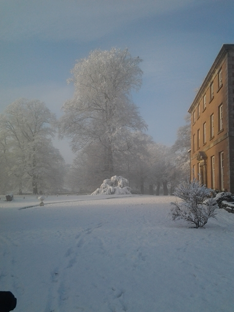 Belmount Hall Wedding Venue in the snow