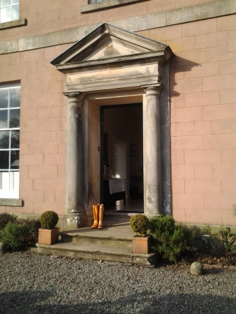 Golden Wellies at Belmount Hall Wedding Venue, Hawkshead